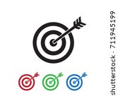 target arrow icon vector... | Shutterstock .eps vector #711945199