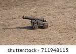 A Small Wooden Cossack Cannon...