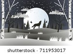 life in the forest with a huge... | Shutterstock .eps vector #711953017