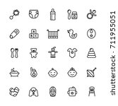 baby care thin line icon set.... | Shutterstock .eps vector #711955051