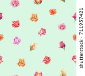 seamless pattern with english... | Shutterstock . vector #711957421