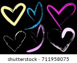 hearts brush style color