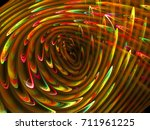 Abstract Bright Feathering...