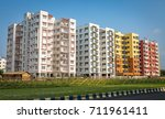 colorful city residential... | Shutterstock . vector #711961411