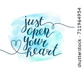 just open your heart ...   Shutterstock .eps vector #711964954