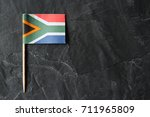 a south african flag toothpick... | Shutterstock . vector #711965809