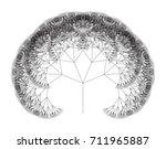 flat vector computer generated  ... | Shutterstock .eps vector #711965887