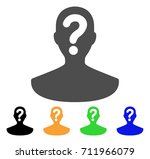 unknown person icon. vector... | Shutterstock .eps vector #711966079
