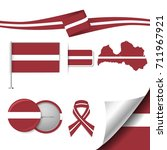 flag with elements latvia   Shutterstock .eps vector #711967921