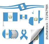 flag with elements guatemala | Shutterstock .eps vector #711967984