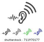 listen and transmit icon.... | Shutterstock .eps vector #711970177