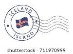 postal stamp ''iceland''.... | Shutterstock .eps vector #711970999