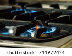 close up of a stove burners... | Shutterstock . vector #711972424