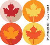 seamless pattern with autumn... | Shutterstock .eps vector #711974065