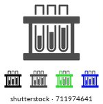 analysis test tubes icon.... | Shutterstock .eps vector #711974641