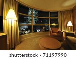 Stock photo luxurious hotel room interior with large window 71197990