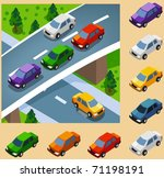 car in the city. vector vehicle ... | Shutterstock .eps vector #71198191