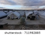 syrian refugees camp at bekaa... | Shutterstock . vector #711982885