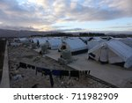 syrian refugees camp at bekaa... | Shutterstock . vector #711982909