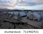 syrian refugees camp at bekaa...   Shutterstock . vector #711982921