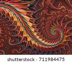 abstract shine red metallic... | Shutterstock . vector #711984475
