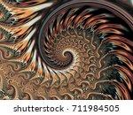 abstract shine brown metallic... | Shutterstock . vector #711984505