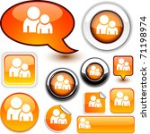 forum vector glossy icons. | Shutterstock .eps vector #71198974