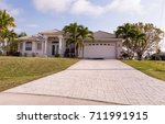 typical southwest florida... | Shutterstock . vector #711991915