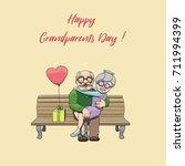 happy elderly couple in love...   Shutterstock .eps vector #711994399