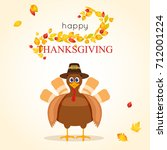 happy thanksgiving day poster... | Shutterstock .eps vector #712001224