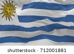 national flag of the uruguay... | Shutterstock . vector #712001881