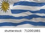 national flag of the uruguay... | Shutterstock . vector #712001881