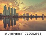 bangkok city downtown  bangkok... | Shutterstock . vector #712002985