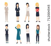 women in office clothes.... | Shutterstock . vector #712004545