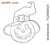 halloween coloring book or page.... | Shutterstock .eps vector #712006015