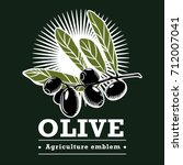 vector image of a olive branch. ... | Shutterstock .eps vector #712007041