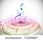 music colorful music note theme ...