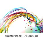 abstract wave line background....