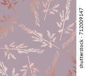 rose gold. elegant decorative... | Shutterstock .eps vector #712009147