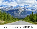 view of mountain peaks in the... | Shutterstock . vector #712010449