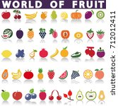 fruits icons for art or web. | Shutterstock .eps vector #712012411