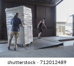 truck loading and shipping.... | Shutterstock . vector #712012489