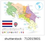 costa rica administrative map... | Shutterstock .eps vector #712015831
