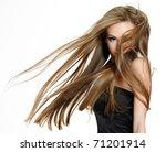 beautiful teen girl shaking... | Shutterstock . vector #71201914