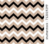 seamless abstract zig zag black ... | Shutterstock .eps vector #712019299