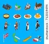 norway tourists attractions... | Shutterstock . vector #712019494