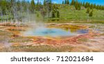 geothermal spring in... | Shutterstock . vector #712021684