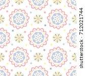 seamless tiling vector pattern... | Shutterstock .eps vector #712021744