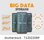 big data store conceptual... | Shutterstock .eps vector #712022089