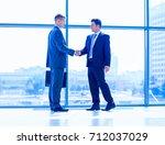 full length image of two... | Shutterstock . vector #712037029